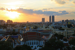 Golden-Mount-Bangkok sunset view