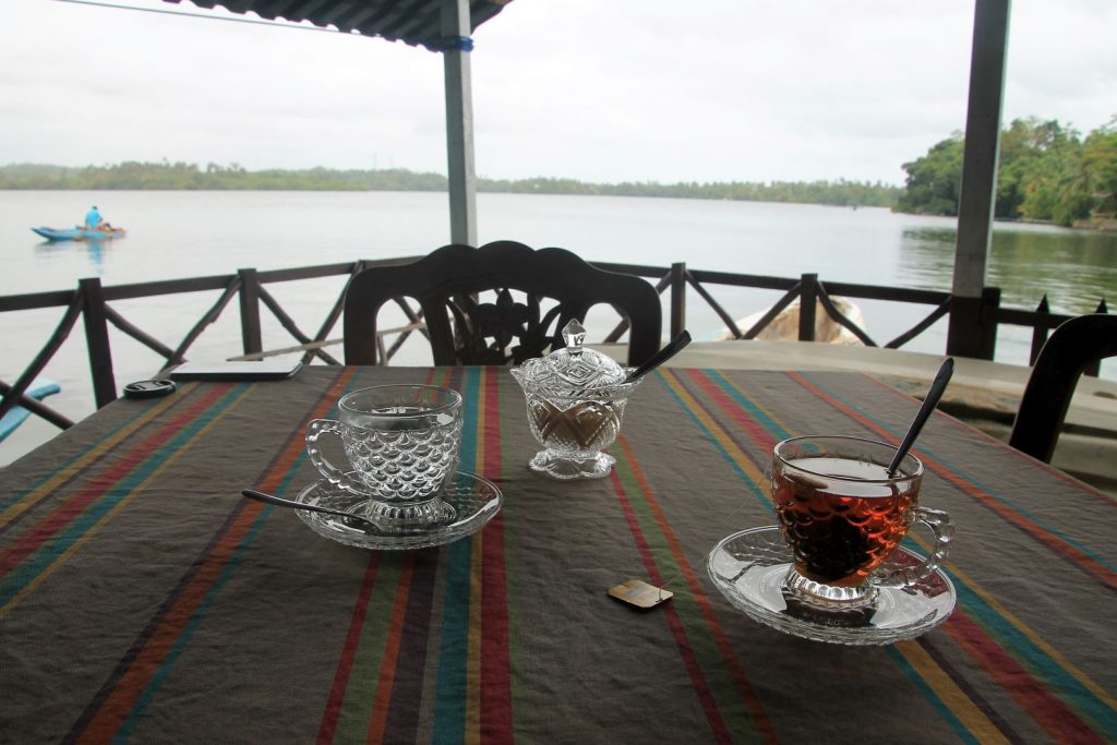 Tea time at the  Lagoon View ECO Hostel