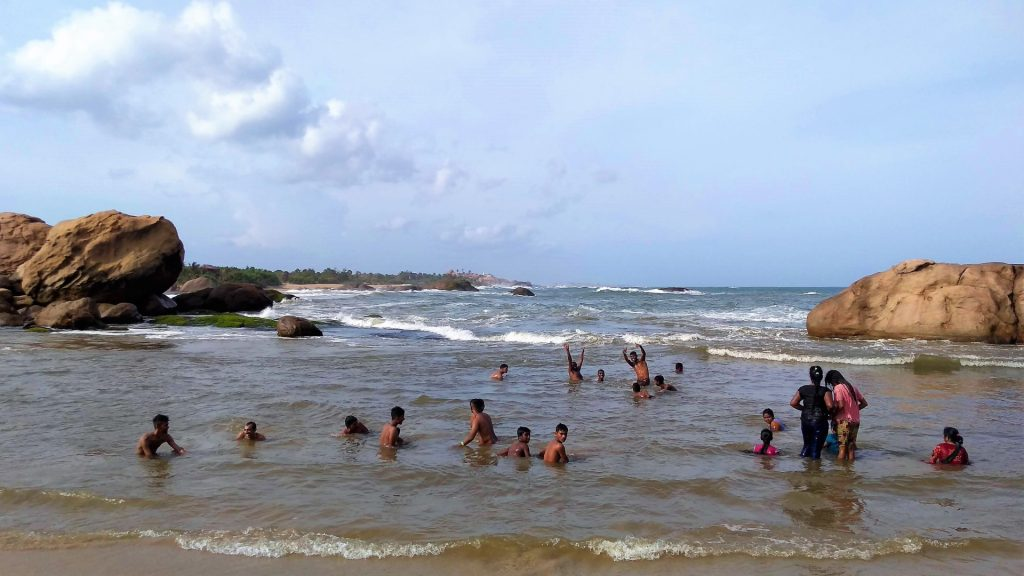 Enjoy swimming where the river meets the ocean at  Nidangala