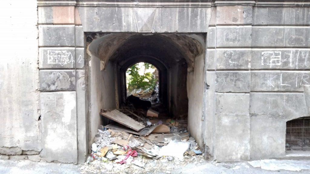 A ruined historical building near Republic Square