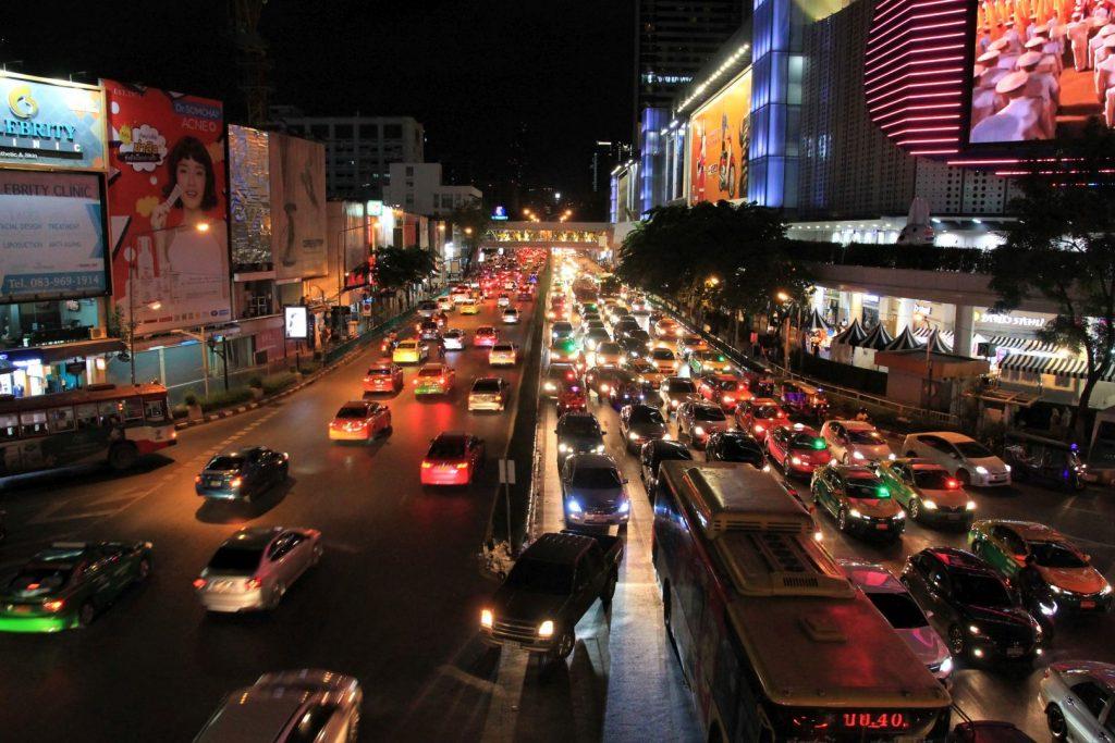 Traffic at Bangkoks SIAM square