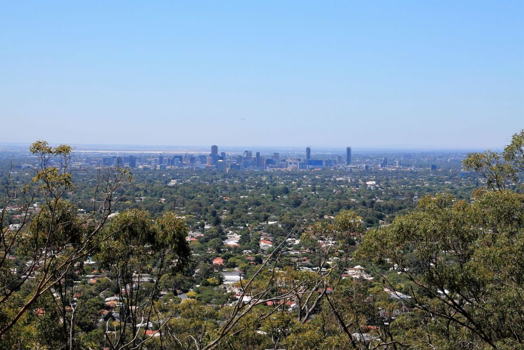 View from the hills at Adelaide