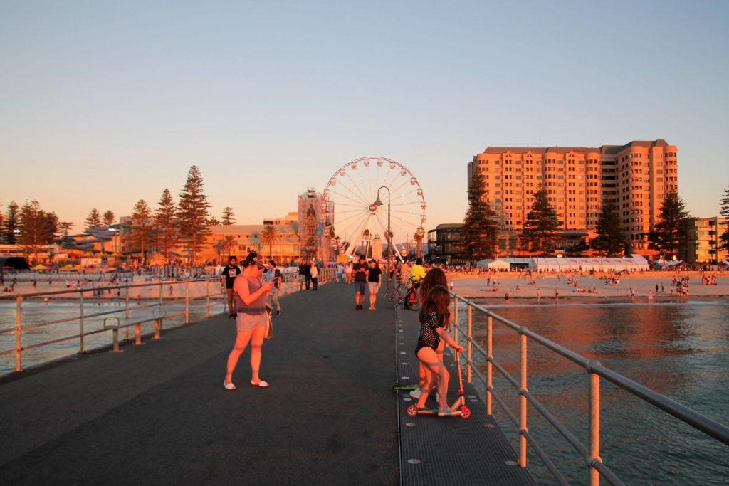 Glenelg Pier at Sunset